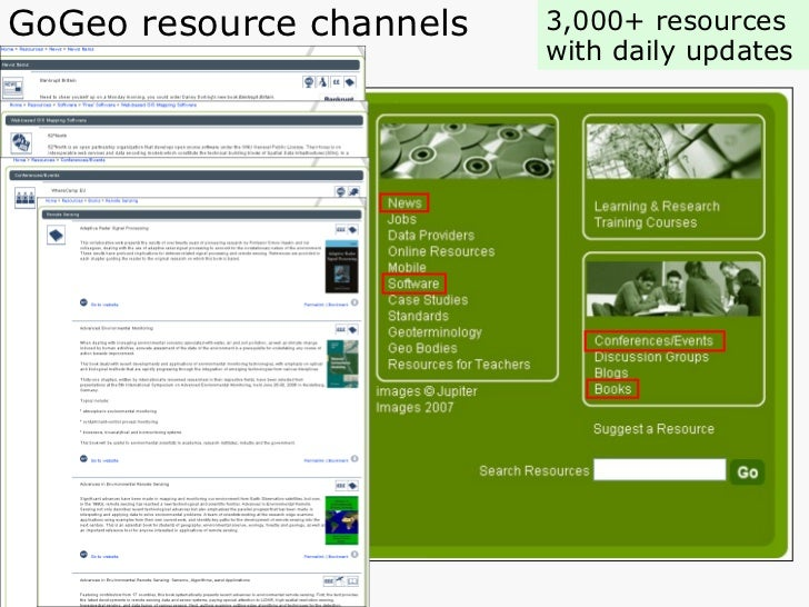 GoGeo resource channels 3,000+ resources  with daily updates