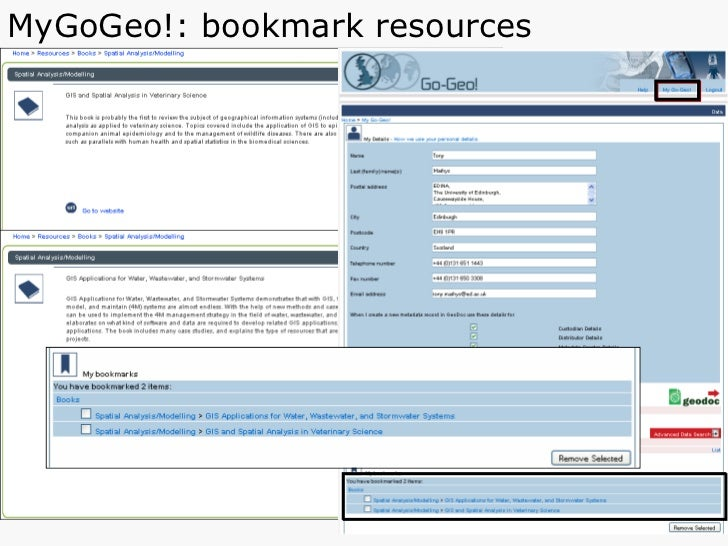 MyGoGeo!: bookmark resources