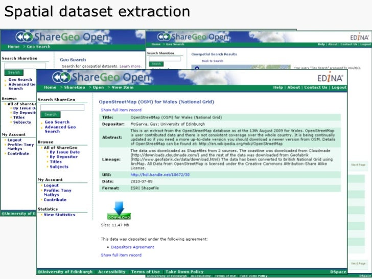 Spatial dataset extraction