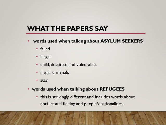 Asylum seekers and benefits