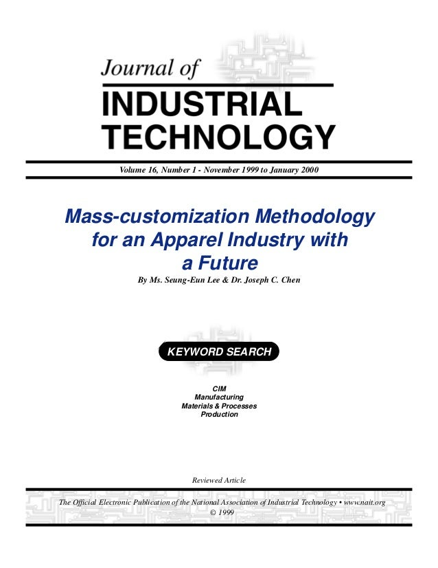 1Journal of Industrial Technology • Volume 16, Number 1 • November 1999 to January 2000 • www.nait.orgThe Official Electro...