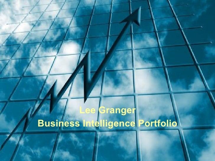 Lee Granger Business Intelligence Portfolio