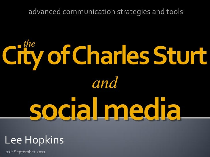 advanced communication strategies and tools        theCity of Charles Sturt                           and           social...