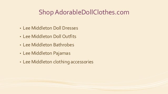 Lee Middleton Doll Clothes