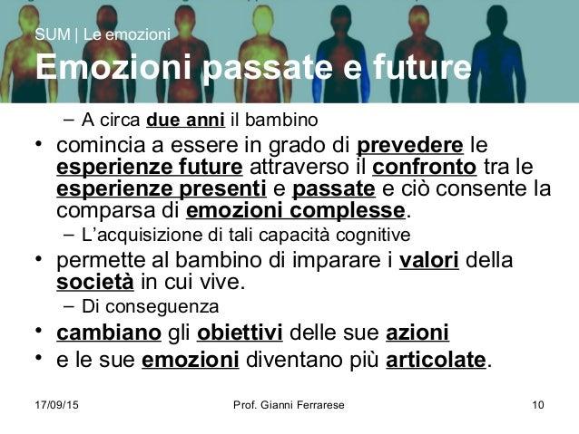 17/09/15 Prof. Gianni Ferrarese 10 – A circa due anni il bambino • comincia a essere in grado di prevedere le esperienze f...