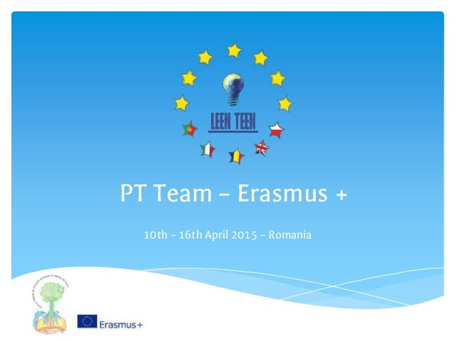 PT Team – Erasmus + 10th – 16th April 2015 – Romania