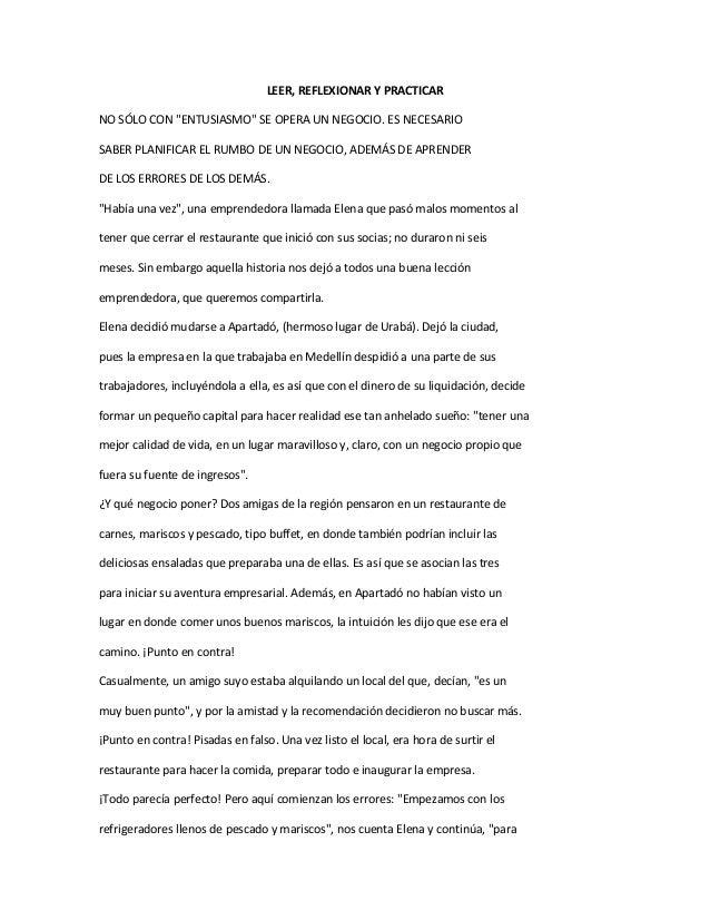 """LEER, REFLEXIONAR Y PRACTICARNO SÓLO CON """"ENTUSIASMO"""" SE OPERA UN NEGOCIO. ES NECESARIOSABER PLANIFICAR EL RUMBO DE UN NEG..."""