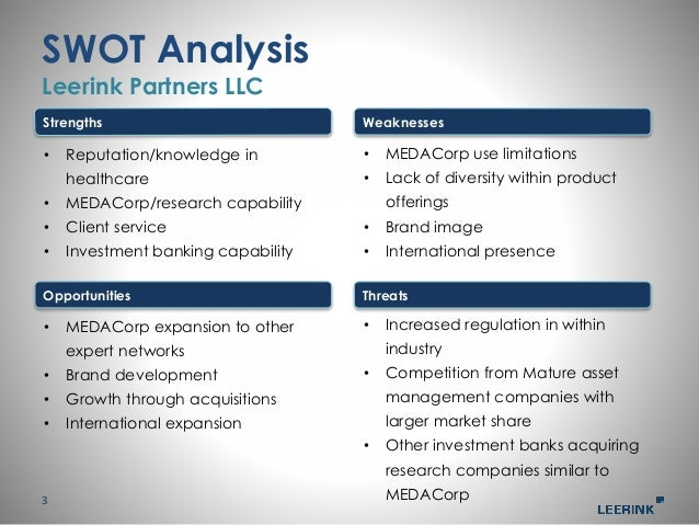 Management presentation investment banking