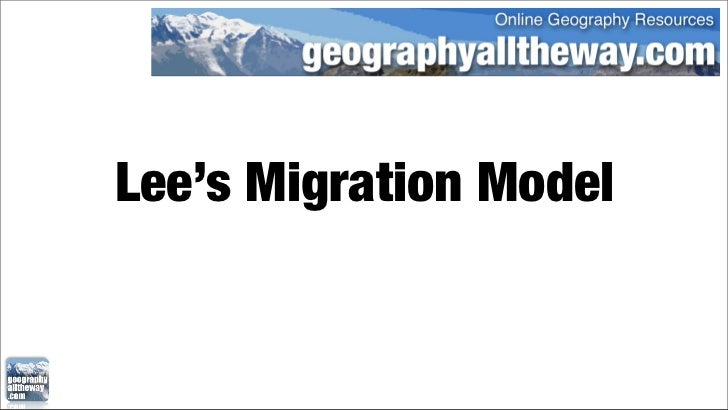 Lee's Migration Model