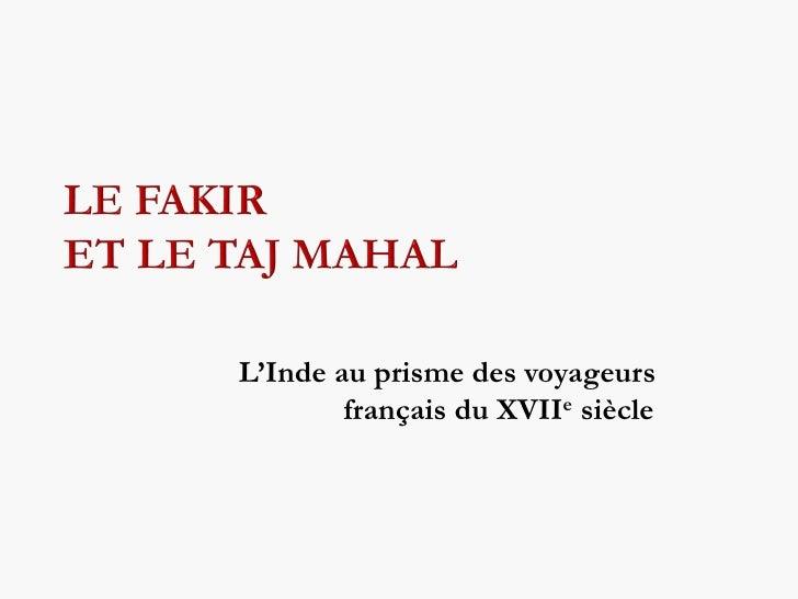 L'Inde au prisme des voyageurs        français du XVIIe siècle