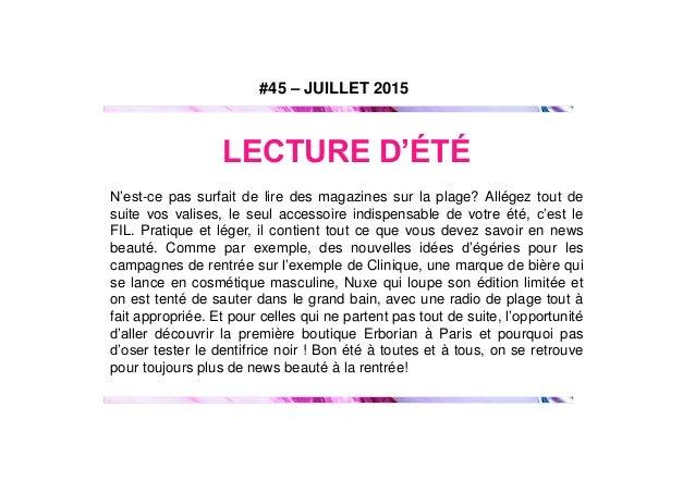 Le Fil Beauté by Extreme_n°45 juillet15 Slide 2