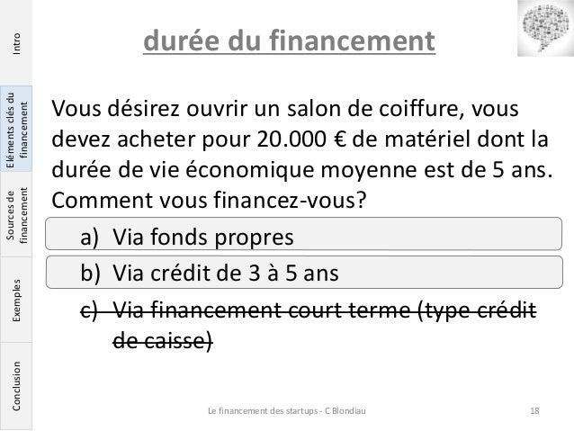 Les cl s pour bien financer sa startup for Duree de vie d un cumulus