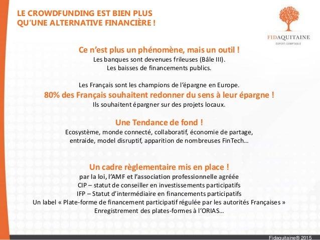 Le financement d'un projet grâce au financement participatif ! Slide 3