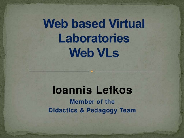 Ioannis Lefkos Member of the Didactics & Pedagogy Team