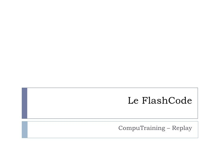 Le FlashCodeCompuTraining – Replay