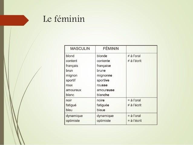 Le féminin