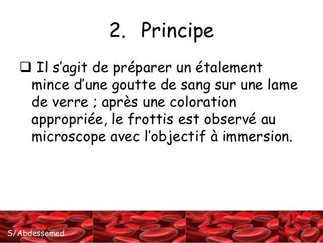 La confection du frottis sanguin. Slide 3