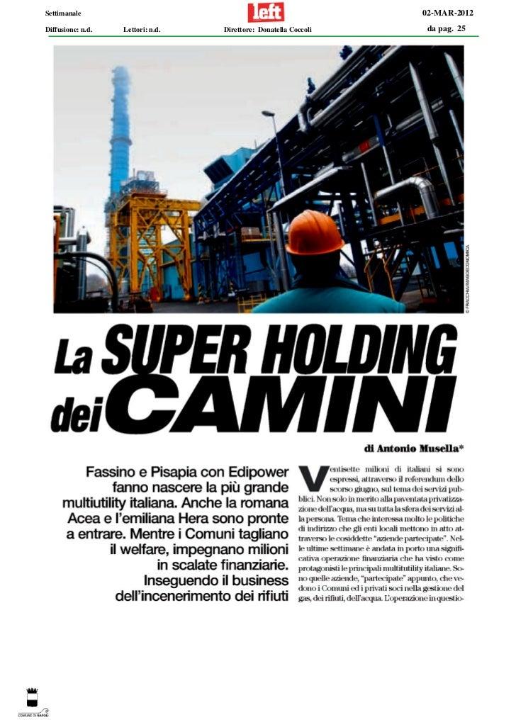 Settimanale                                                       02-MAR-2012Diffusione: n.d.   Lettori: n.d.   Direttore:...