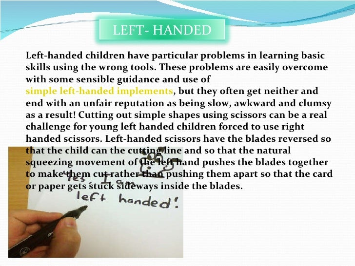 left handed advantages and disadvantages