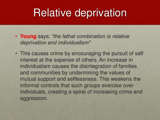 relative deprivation examples