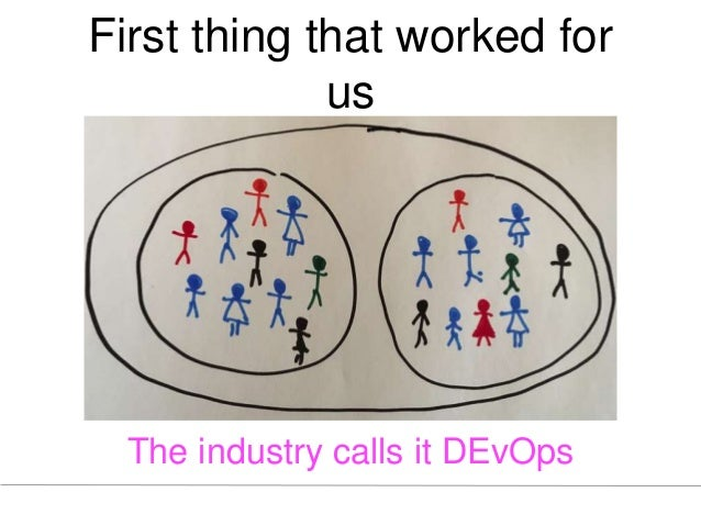 First thing that worked for us The industry calls it DEvOps