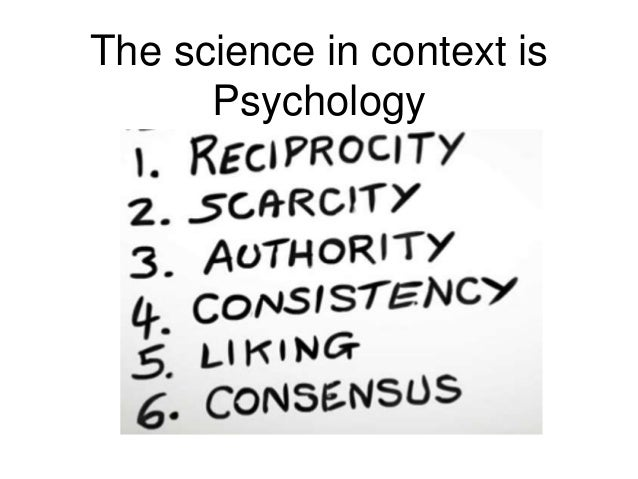 The science in context is Psychology