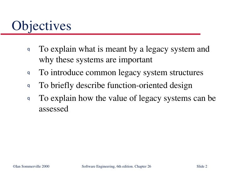 legacy system in software engineering pdf
