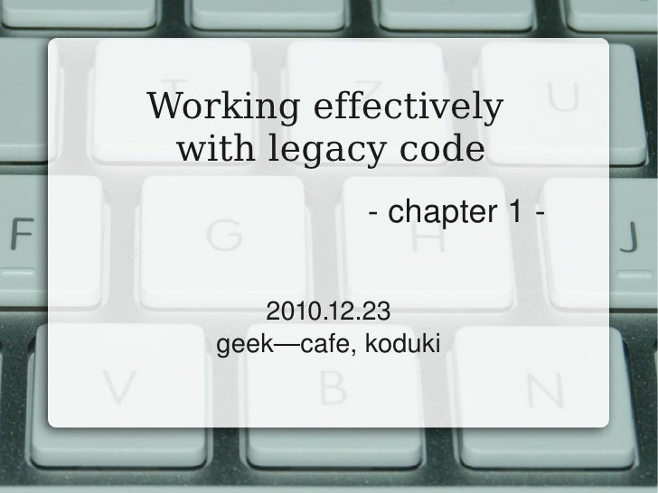 working effectively with legacy code pdf