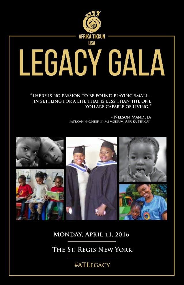 Afrika Tikkun USA Legacy Gala- Event Program