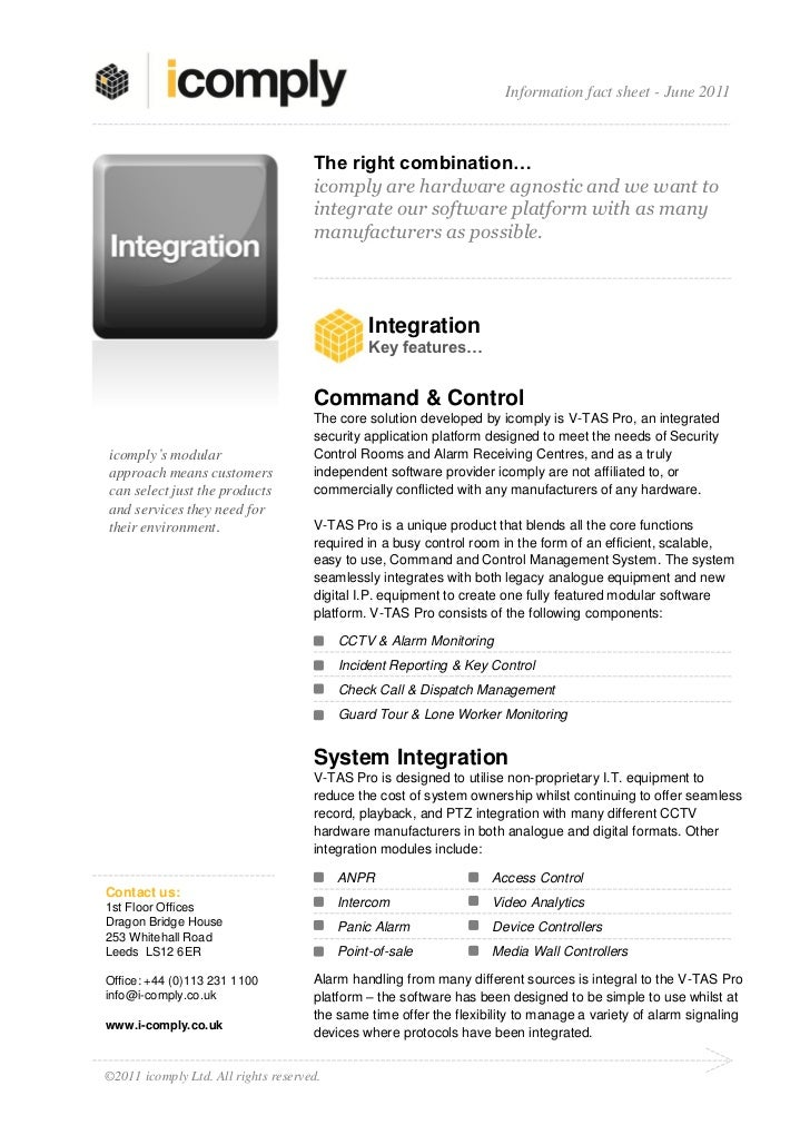 Information fact sheet - June 2011                                     The right combination…                             ...