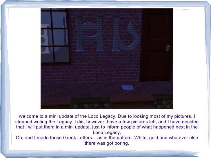 Loco Legacy Mini-Update