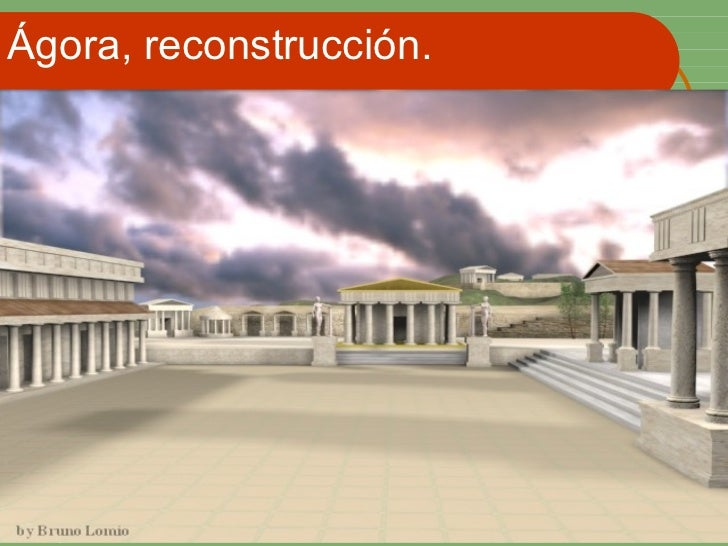 Ágora, reconstrucción.