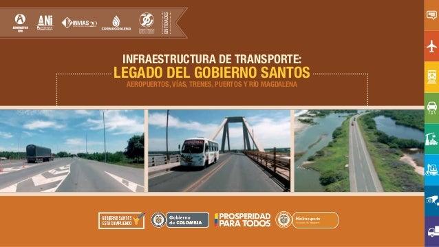 INFRAESTRUCTURA DE TRANSPORTE: LEGADO DEL GOBIERNO SANTOS AEROPUERTOS, VÍAS, TRENES, PUERTOS Y RÍO MAGDALENA ENTIDADES