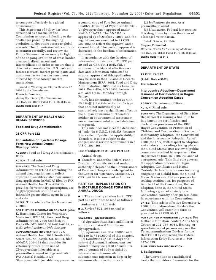 64451                                                        Federal Register / Vol. 71, No. 212 / Thursday, November 2, 2...