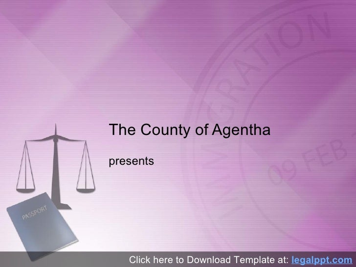 Immigration Law PowerPoint Template