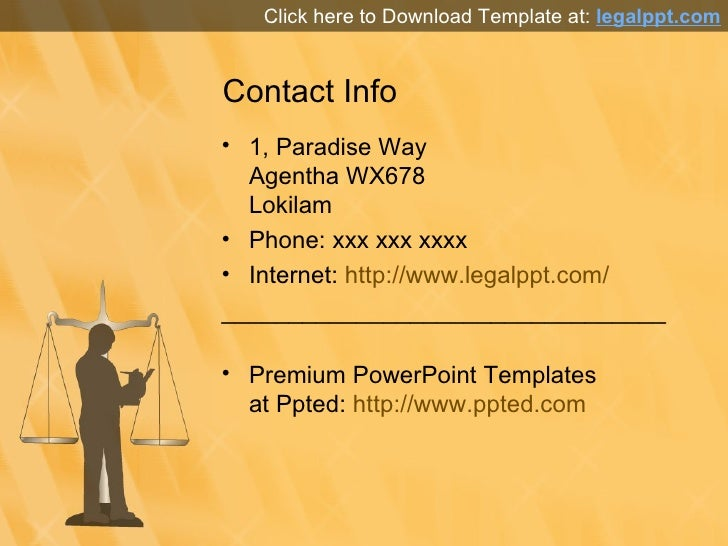Media Law PPT Template for PowerPoint Presentation
