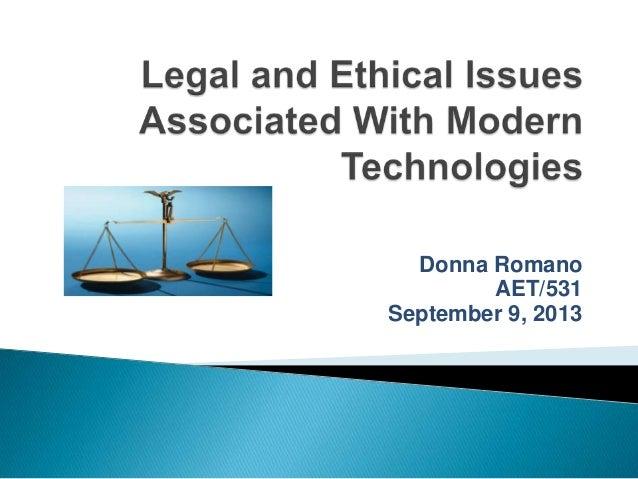 Donna Romano AET/531 September 9, 2013