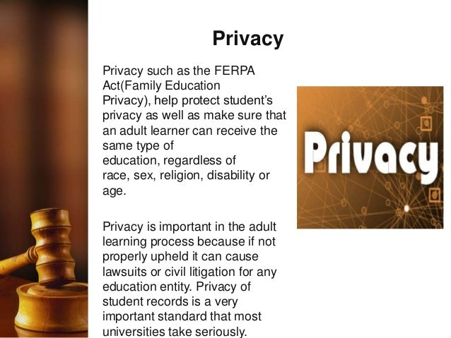 ferpa ethical challenges Study adm516 ethical and legal issues for administrators from university of phoenix view adm516 course topics and additional information.
