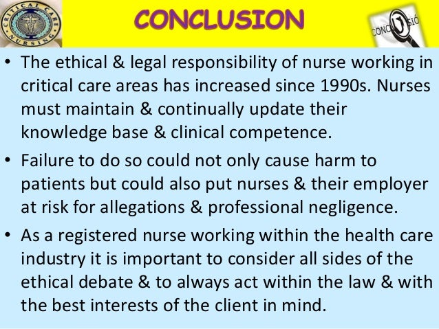 critically consider the ethical and legal