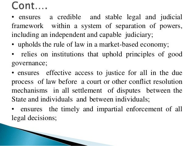 • implementation of certain laws pertaining to theindependence of the judiciary;• implementation of certain laws pertainin...