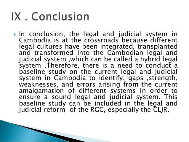 Legal and judicial reform in cambodia