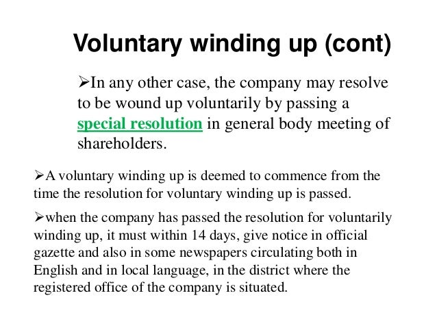 winding up of a company in india