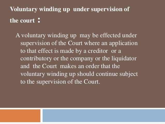 COMPANY VOLUNTARY WINDING UP: LAW AND PROCEDURE IN TANZANIA