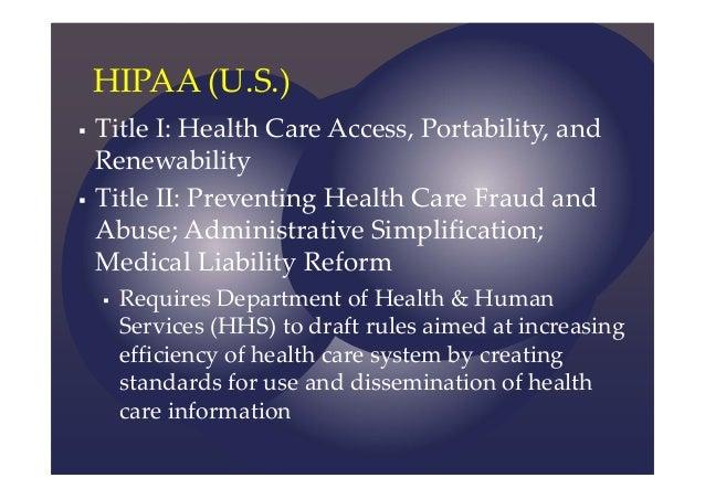?the health insurance portability and accountability act essay View essay - health insurance portability and accountability act (hipaa) privacy rule from health pht 307 at maseno university running head.
