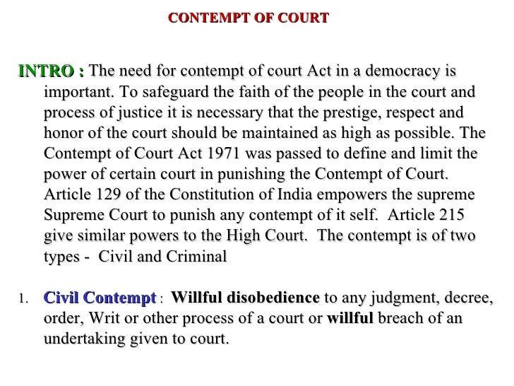 contempt of court act 1971 in hindi pdf
