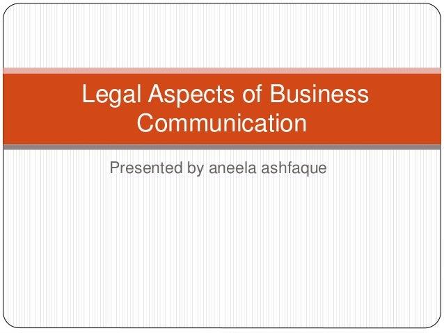Legal asspect of business