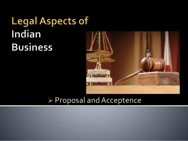  Proposal and Acceptence
