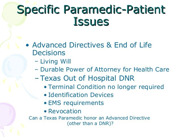 advance directives patient end of life decisions I ncreasingly, medical and lay communi-ties have called for patients to establish advance directives for medical and end-of-life decisions, including a living will.