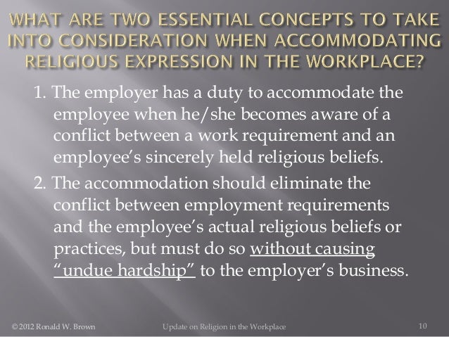 religious accommodation in the workplace