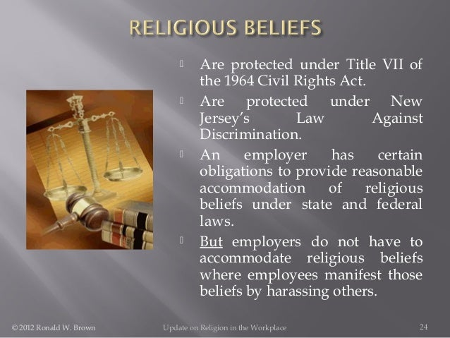Accommodating employees religious beliefs
